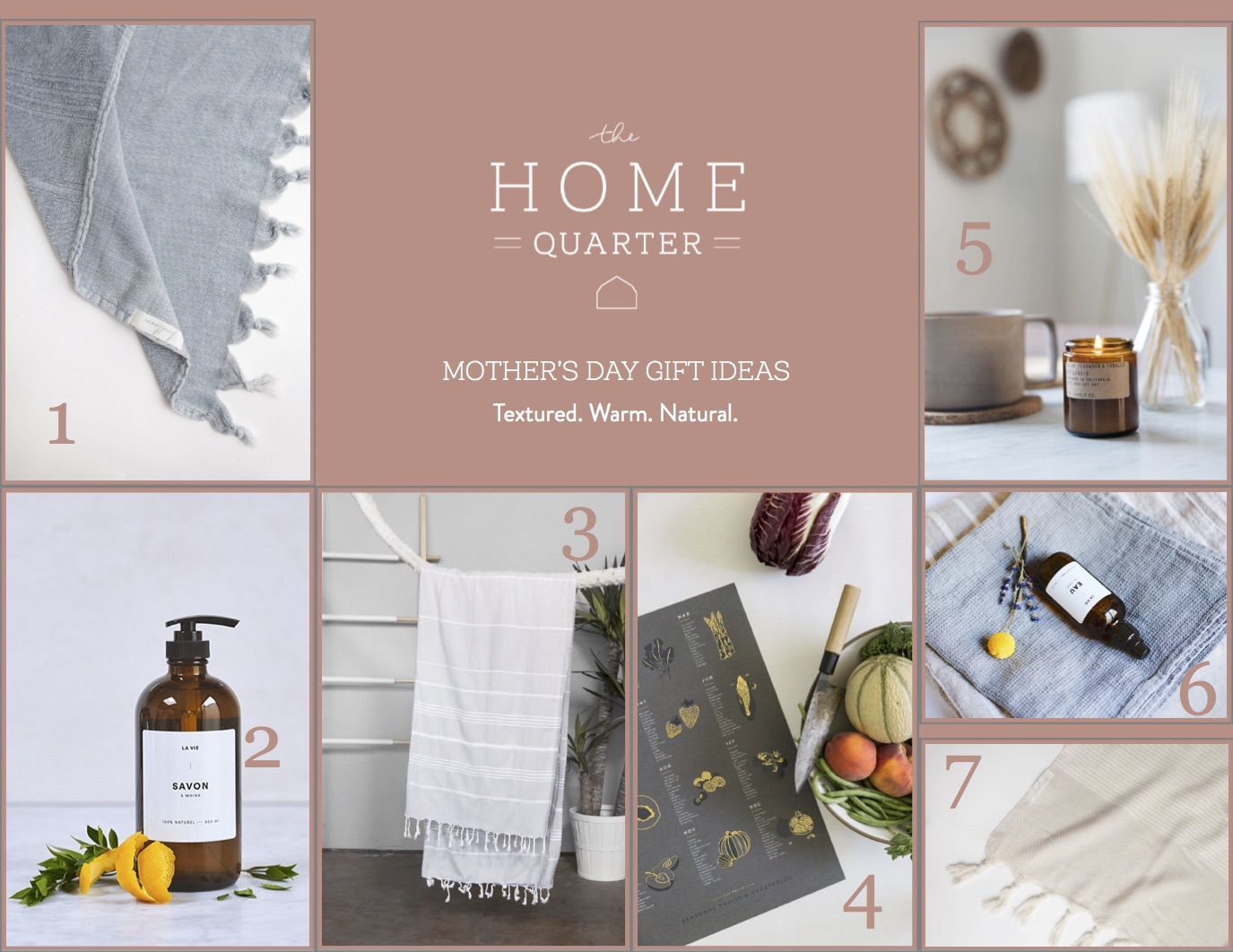 The Home Quarter's Mother's Day gift guide