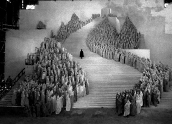 "Check_Out_This: - This example of forced perspective from The Blackguard (1925, dir. Graham Cutts) Art direction by Alfred Hitchcock ""What you see on the set does not matter. All that matters is what you see on the screen."""