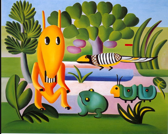 Check_Out_This: - Latin American modernist artist Tarsila do Admiral 'A Cuca' here from 1924 is one of my favs!