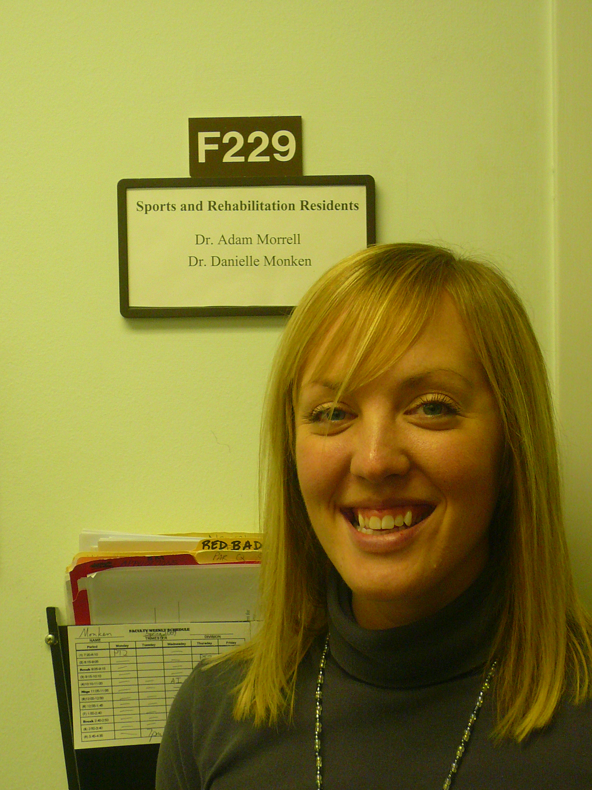 After a year of working at Logan, I finally had gotten my name on the wall outside my office!  (March 2009)