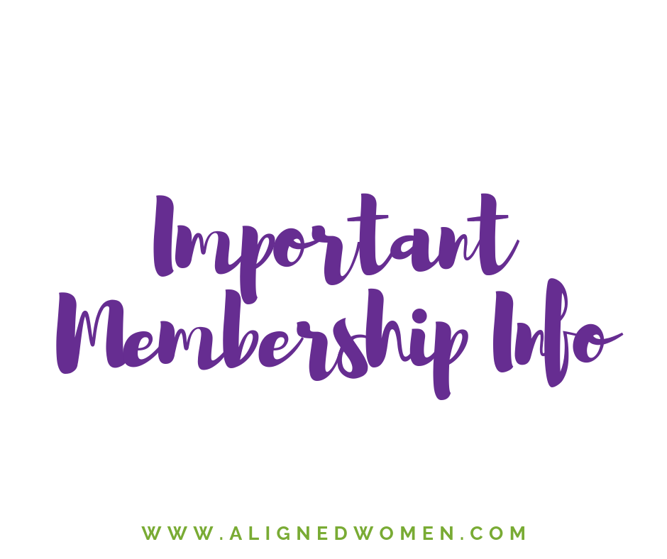 If you are new to Aligned Women, this is a great place for you to start.