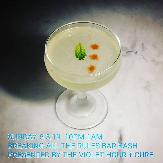 This Sunday we're flipping the script and throwing our usual Violet Hour rules out the window. Join us for a spirited bar takeover featuring guest appearances from the country's best bar programs, both recent James Beard Award winners and current finalists, as we raise a glass for our Breaking All the Rules, Bar Bash. Follow along in our stories this week to see who will be behind our bar (and in our kitchen). . . Link in bio for more information.