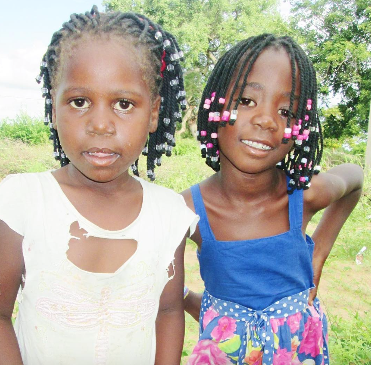 Two of the girls who are benefitting from our nutrition program.