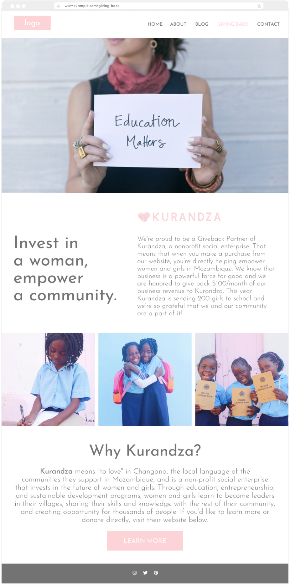 kurandza giving back page.png
