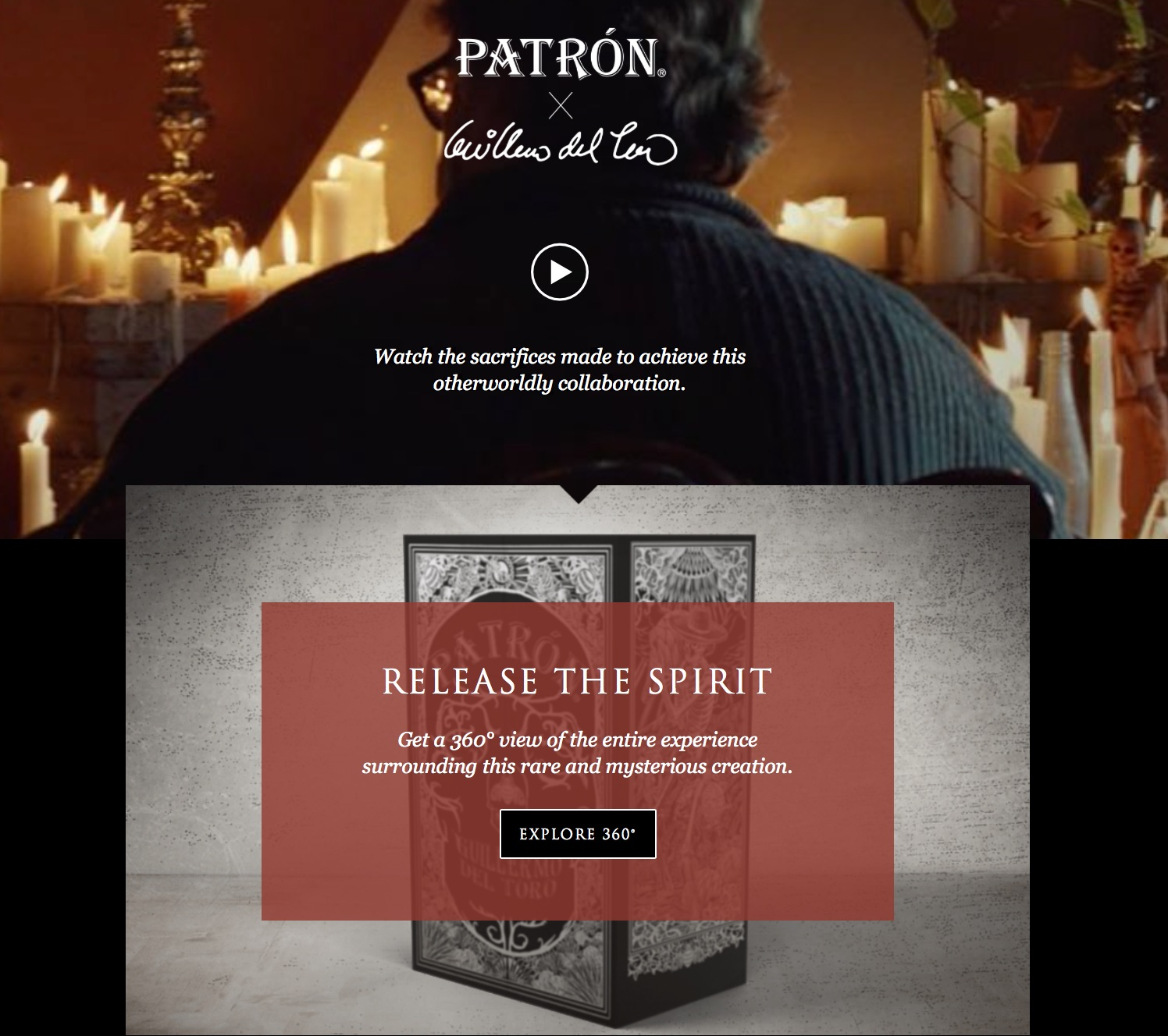 Patrón x Guillermo del Toro // Helped tell the story of the award-winning director's connection to Patron's home and the spirit of his highly-exclusive tequila // Read more