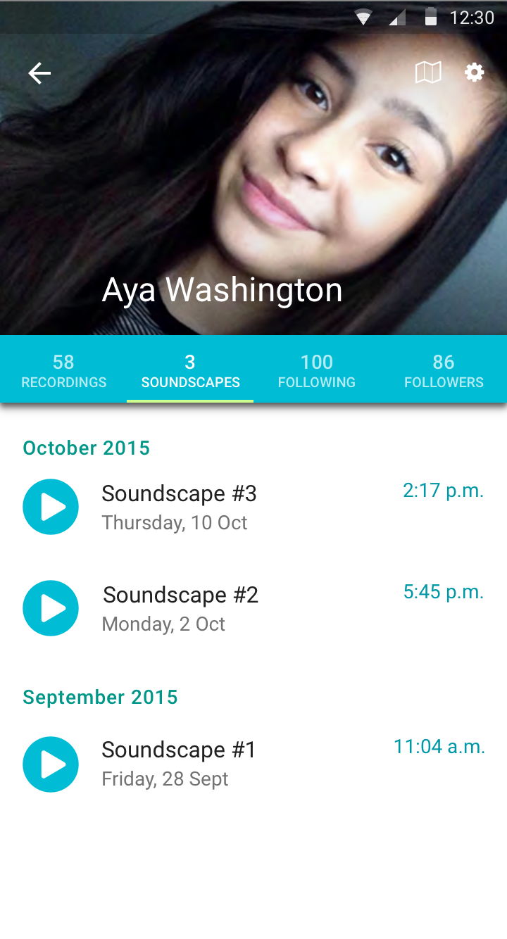 Aya's Profile - Her Soundscapes