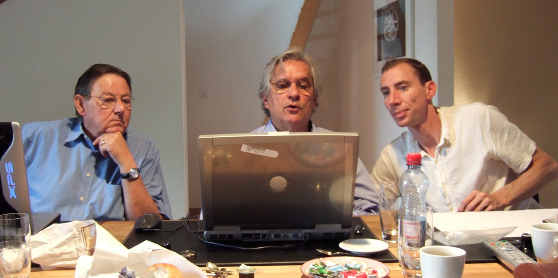 Philippe Ioset,Michel Belot et Noah Chevaux
