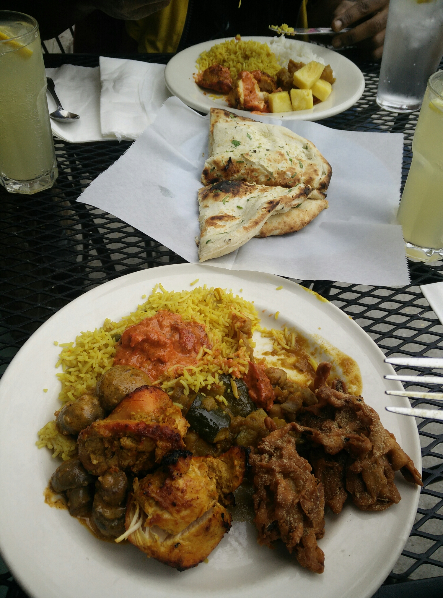 Lunch at the Indian restaurant: Taj Cafe