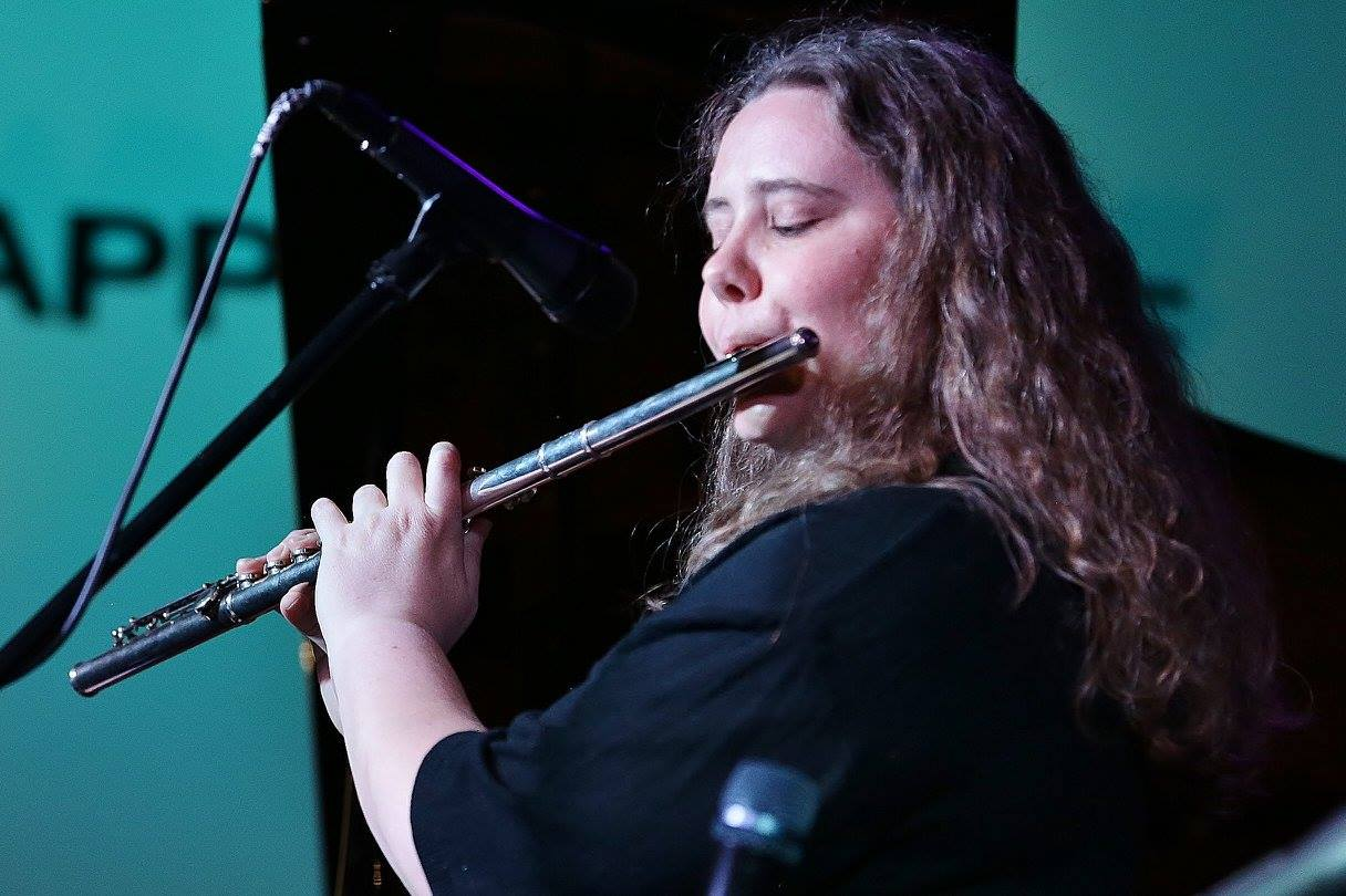 Monica Shriver playing flute with her quartet - the Monica Shriver Jazz Project - at The Nash in Phoenix, AZ. Photo credit: Diane Banyai