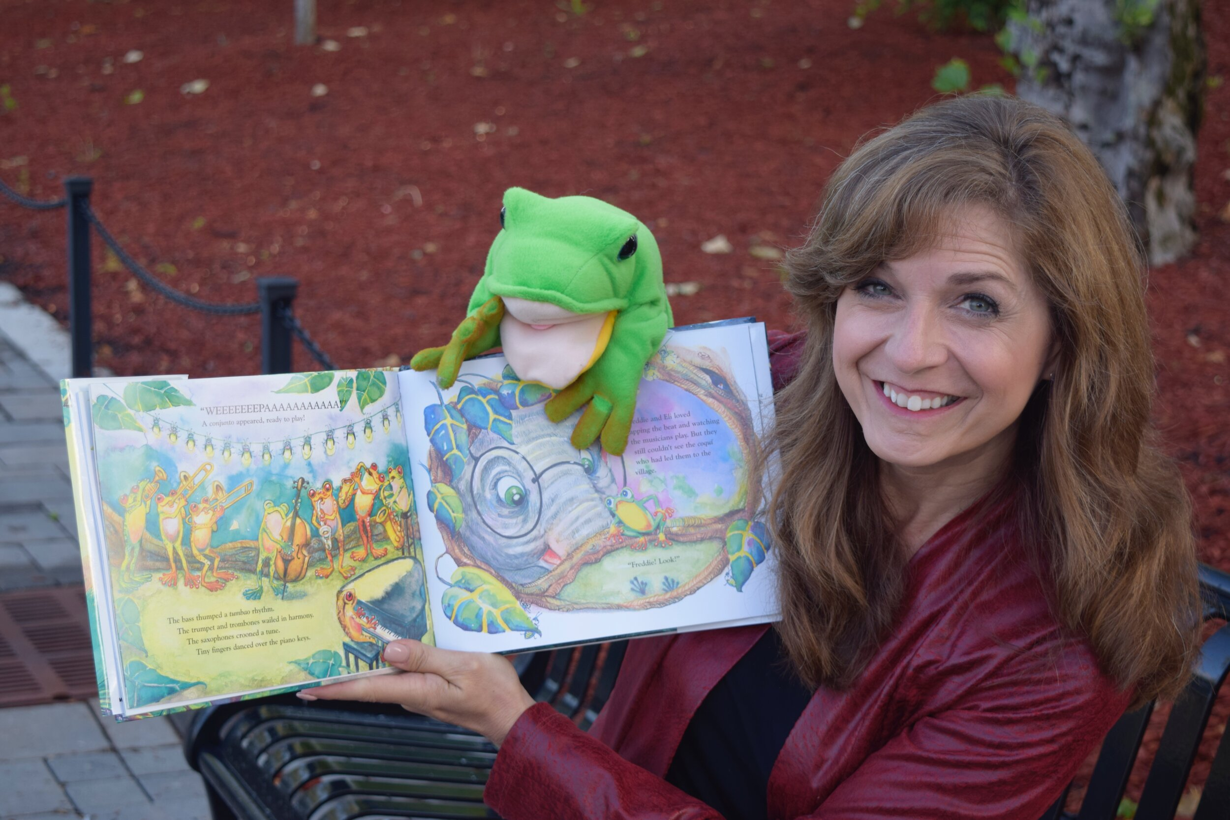 Sharon Burch and Freddie the Frog