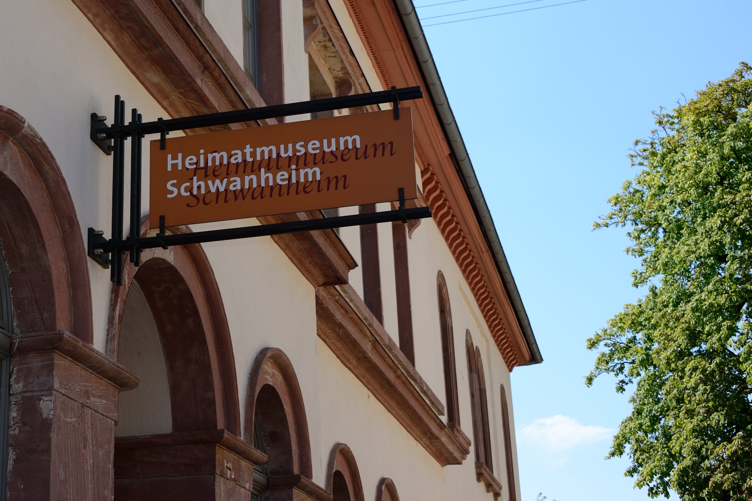 Entrance to the Heimatmuseum, Alt Schwanheim 6. (Photo copyright © 2016 by Anne Noble)