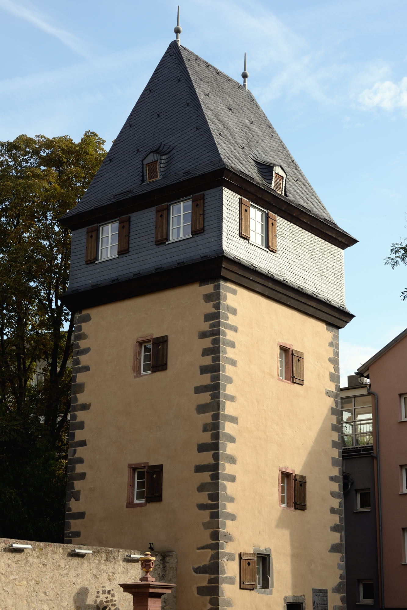 Kuhhirtenturm, now a museum to the composer Hindemith, open on Sundays.