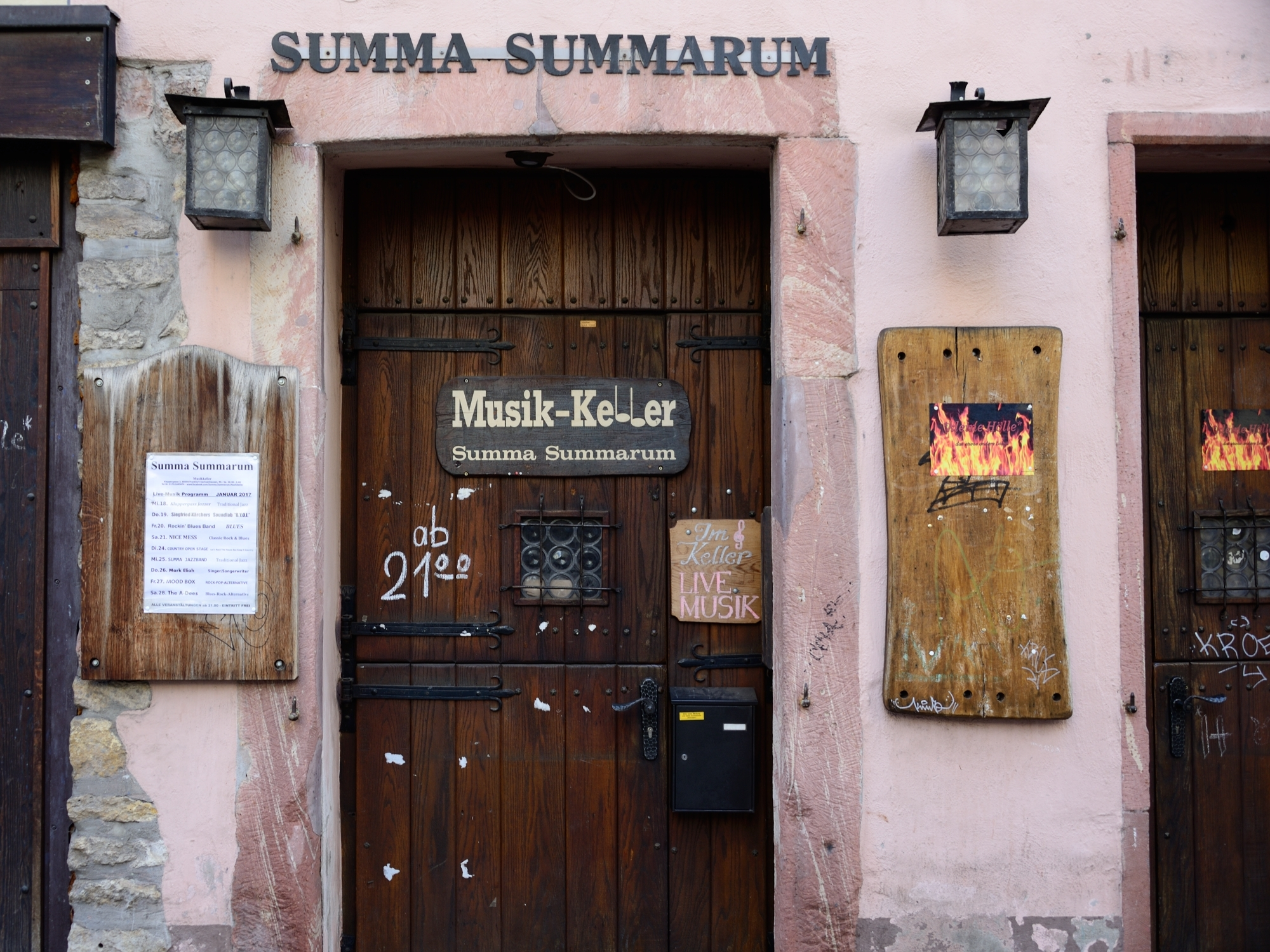 Summa Summarum, a great little live band venue and jazz club deep in the cellar of this old 17th century building