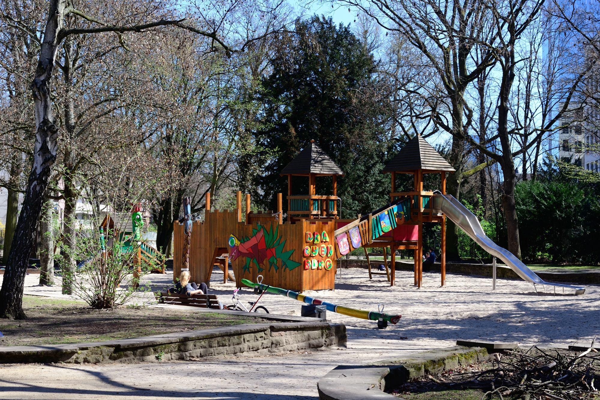 One of the many playgrounds in the park