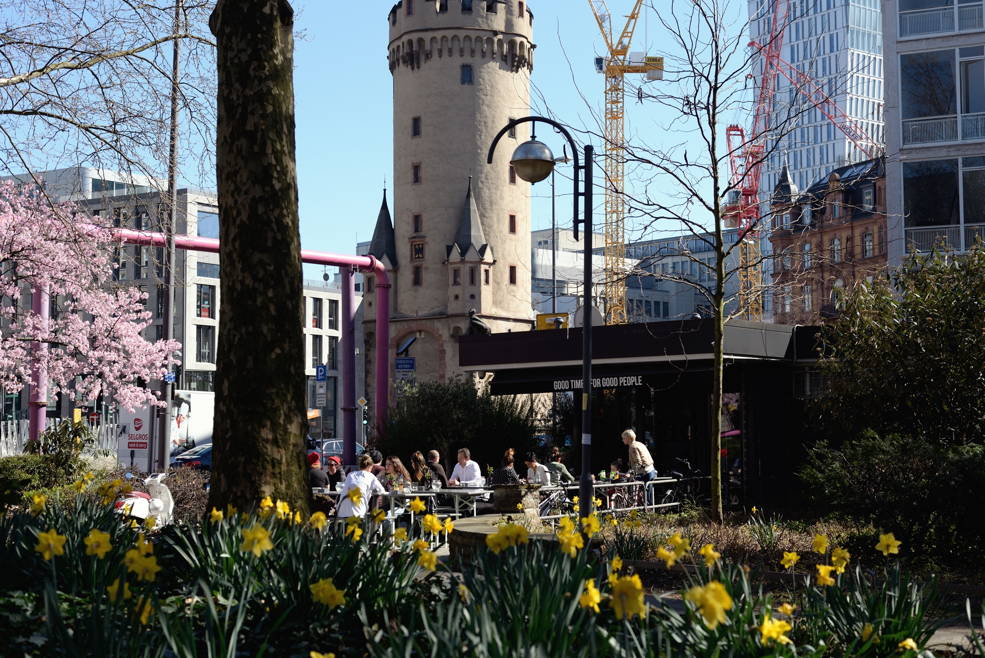 Eschenheimer tower and Good Things cafe