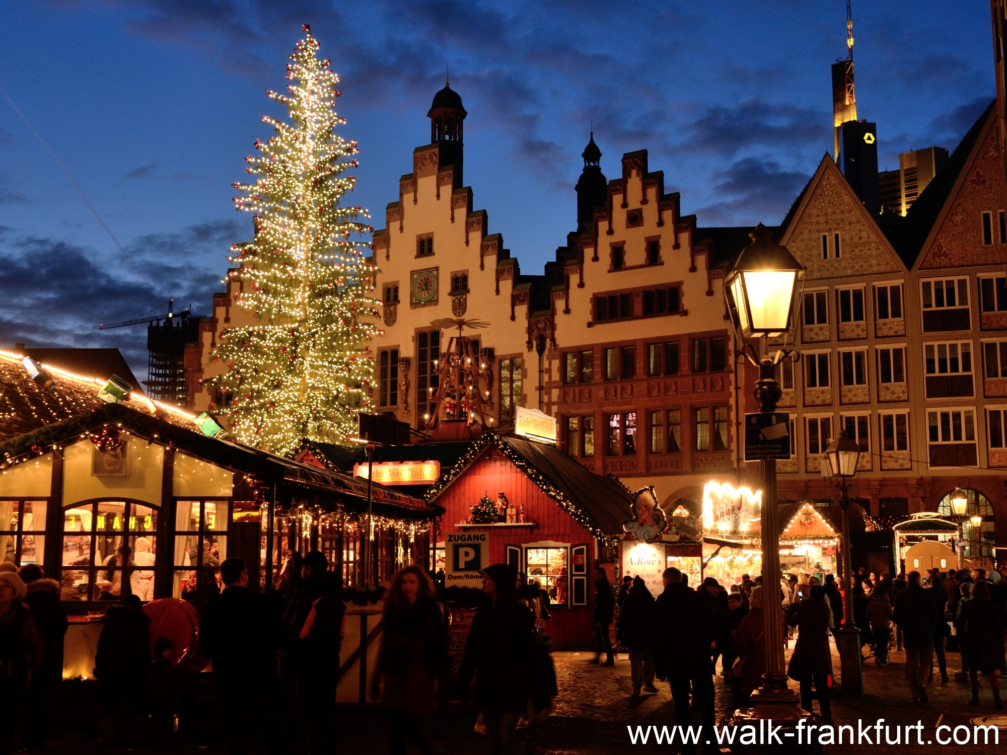 The Christmas Market at the heart of the old town by the town hall