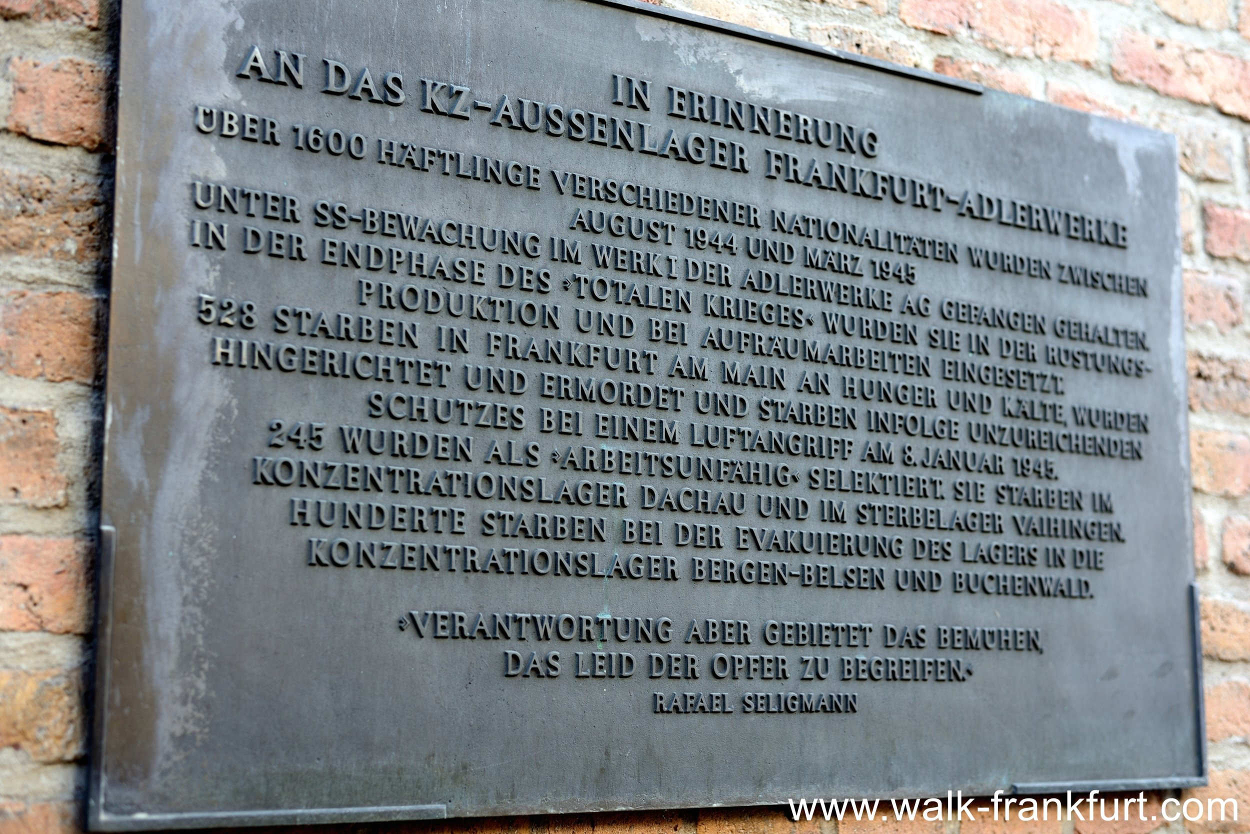 Memorial to the KZ Katzbach victims