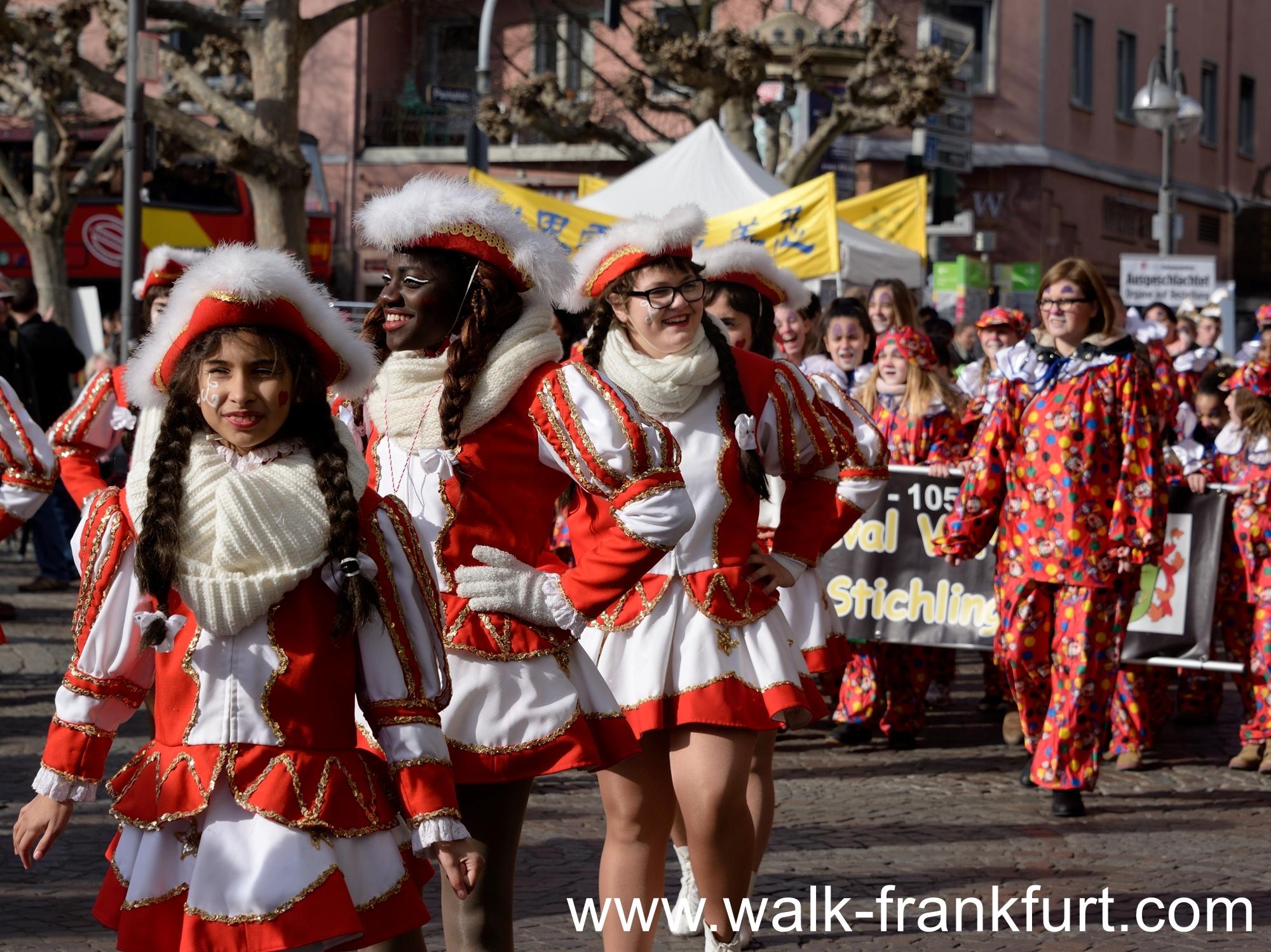 Ladies troop during the parade