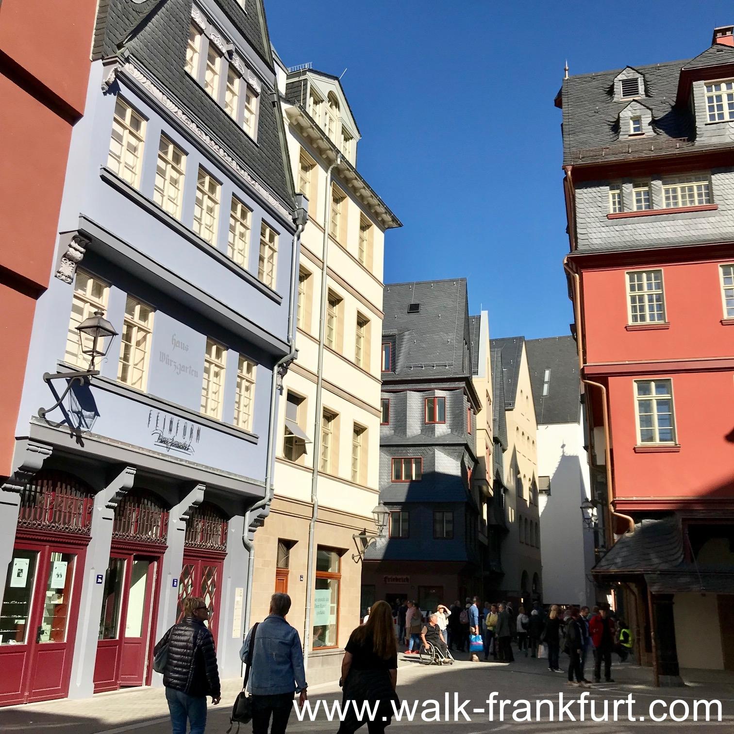 Krönungs Weg in Frankfurt Altstadt