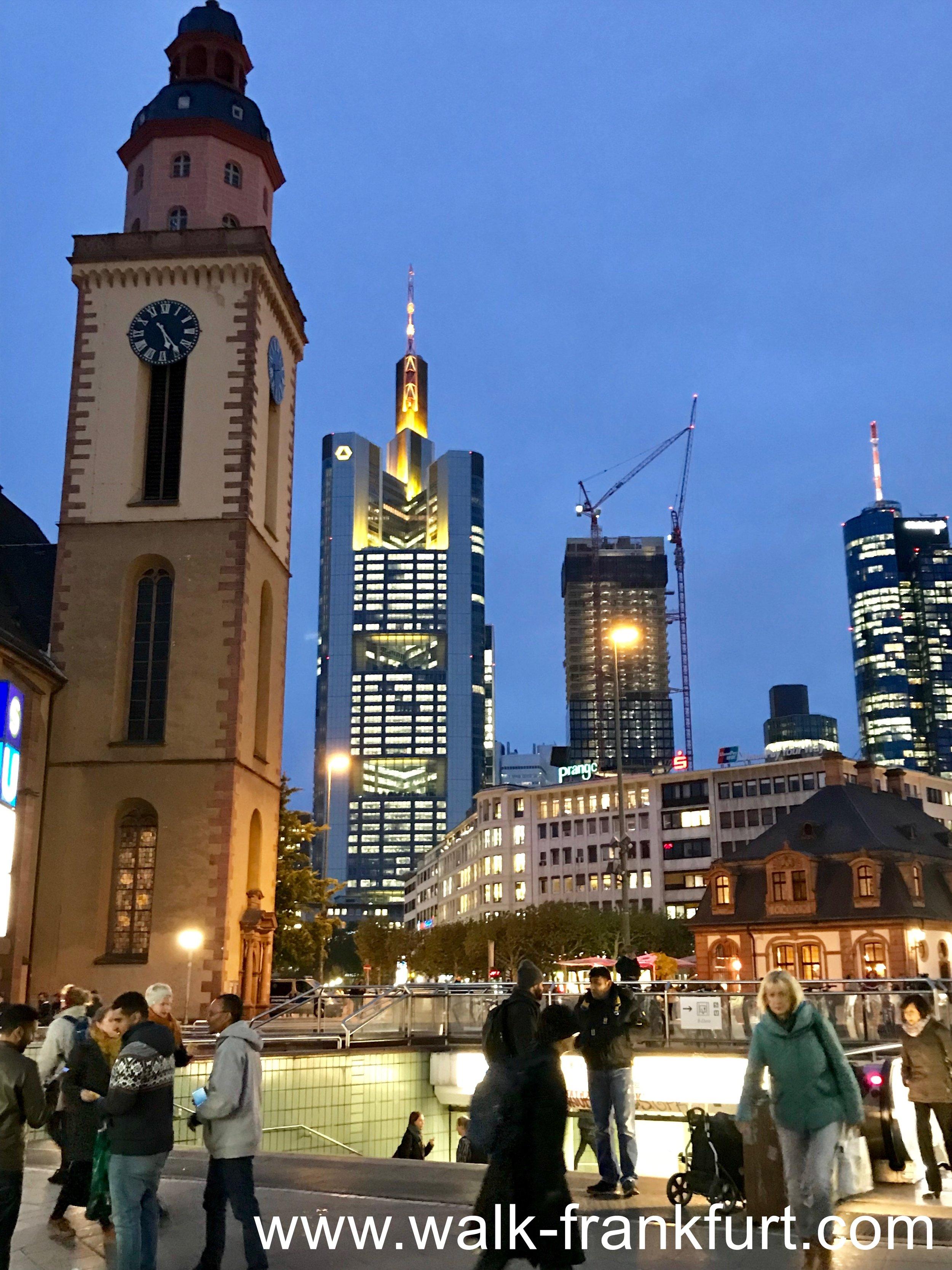 Hauptwache & skyscrapers