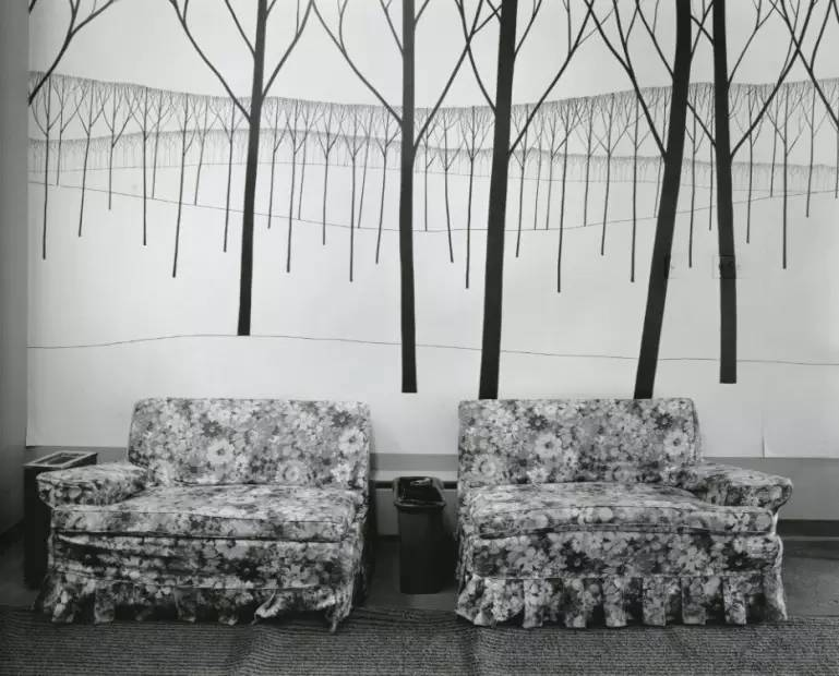 Waiting Room, Catholic Society Services Center, Montreal, 1977