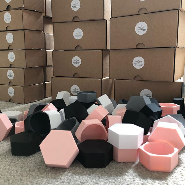 2 days until we launch!! 🚀 Here are some of our Hive tealight holders ready for packaging in our recyclable boxes! 😁 • • • #smallbusiness #3dprinted #inkbuilt #organic #sugarcane #biodegradable #environmentallyfriendly #noplasticisfantastic #design #creative #noplastic #instagood #bristolmakers #independent #sustainable #decor #furniture #fashion #homeware #zerowaste #sustainability #recyclable