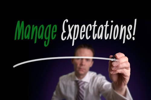 Manage your expectations as a real estate investor.