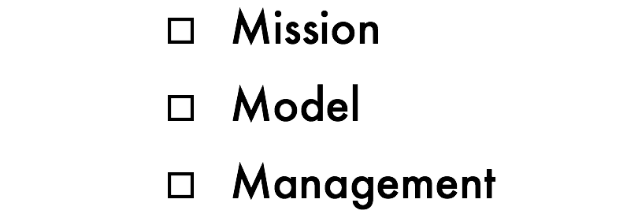 Mission Model Management