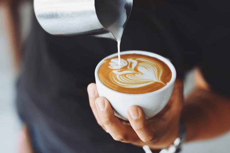 Smallholder farmer crops coffee