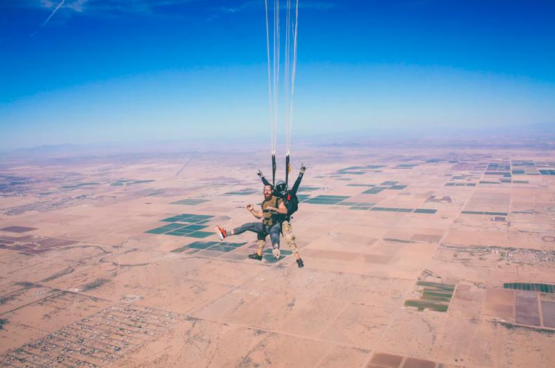 skin in the game tandem skydiving