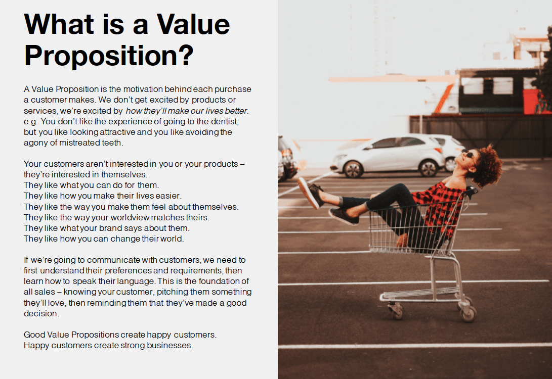 Creating A Compelling Value Proposition
