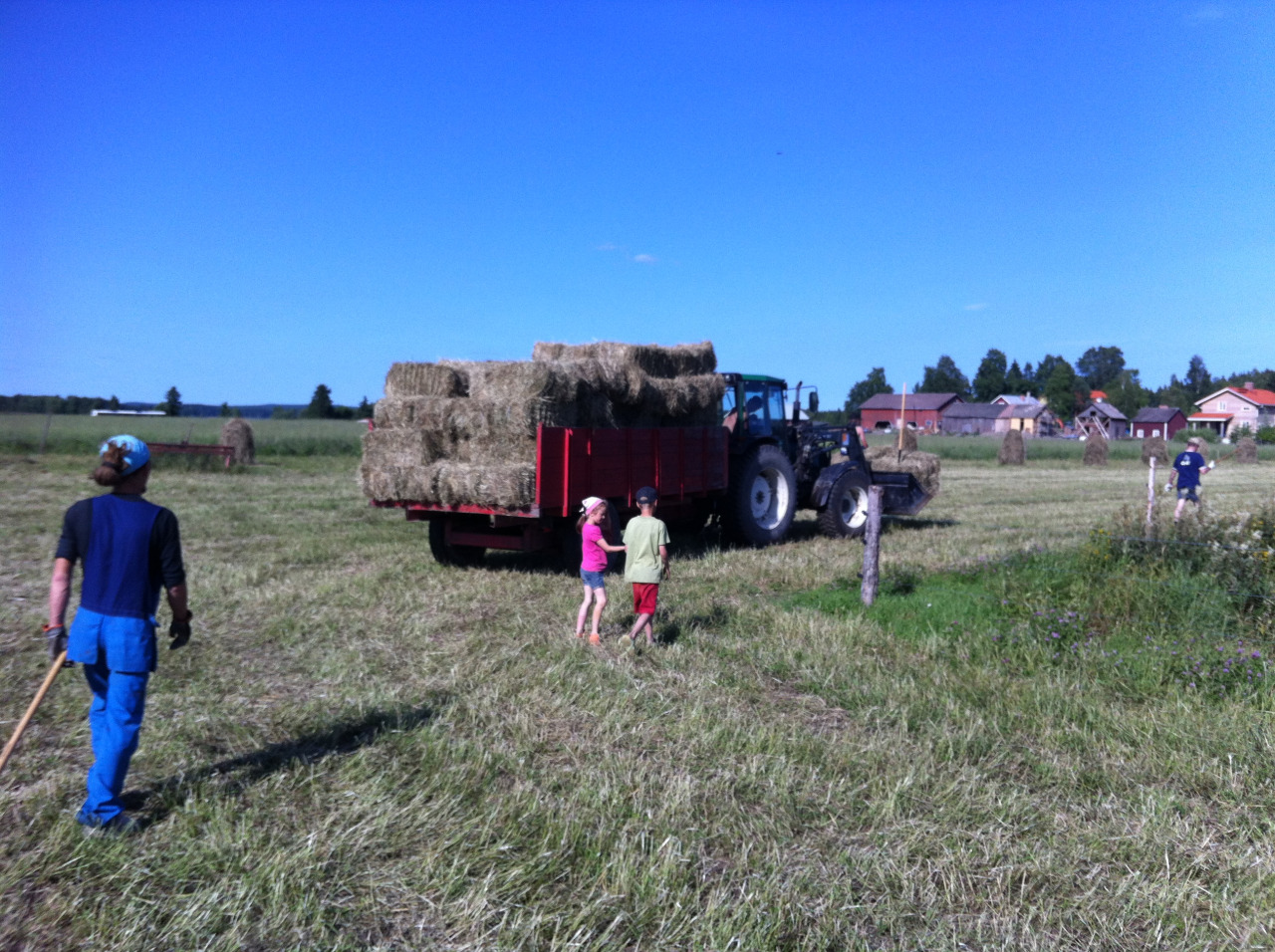 It's time for making and storing the straw bales! A hard works that's is much better to do with many more people