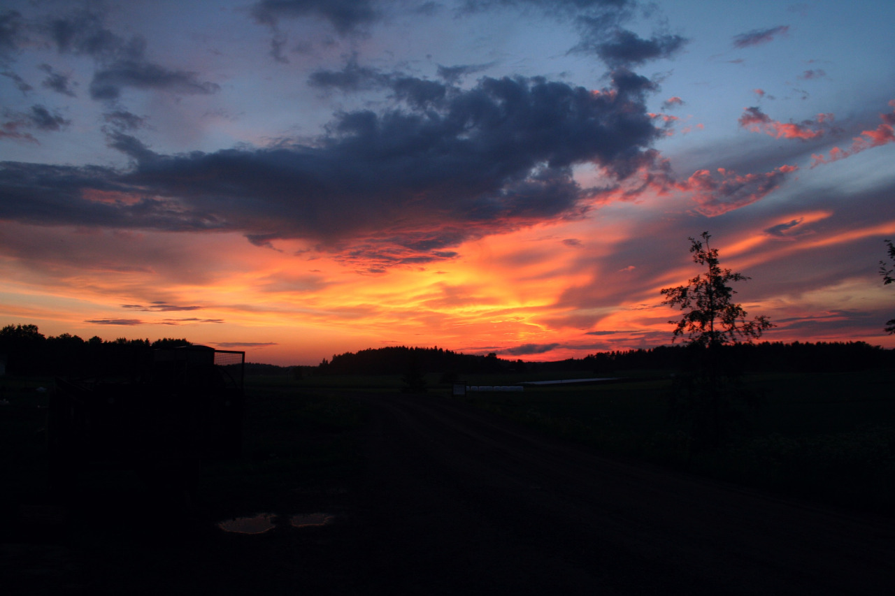 Sunset, in Kurjen Tila after this summers first thunder-storm,