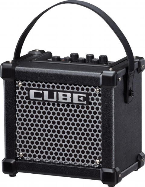 Roland MIcro Cube GX - a world of digital effects in a single amp. Great for practice and busking.