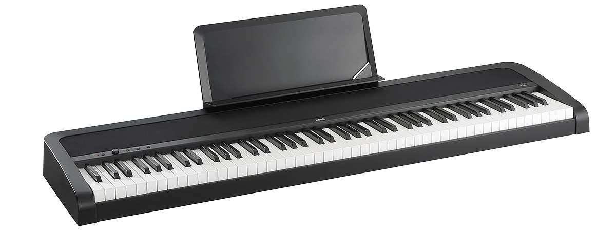 The brand new Korg B1 digital piano launched in October 2018 - twin 9W amps, full 88 key weighted keyboard, 8 voices plus reverb and chorus, metronome, sustain pedal et al all for only £335.00. In store now.