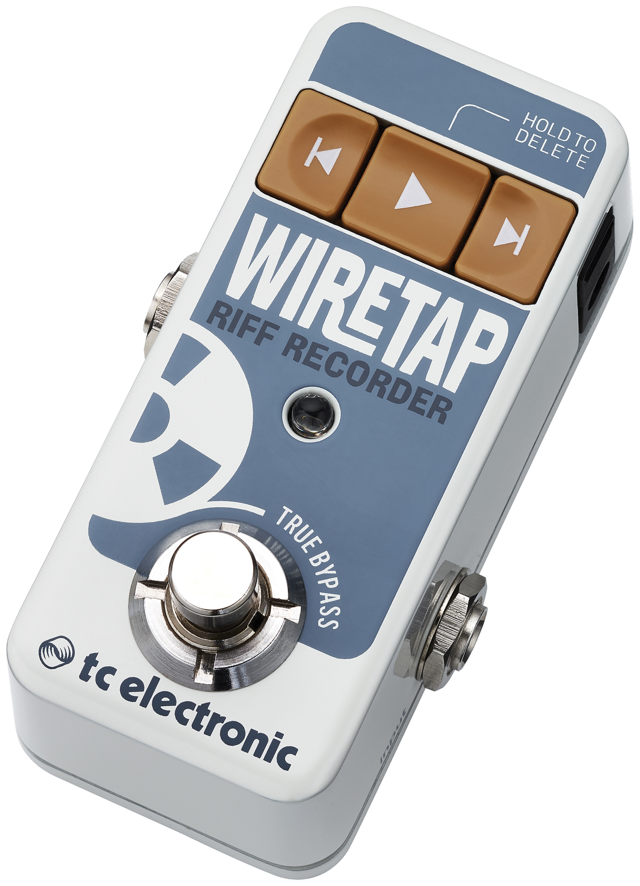 TC Electronic Wiretap Riff Recorder - 8 hours of CD quality record time. Get the riffs down and use them later