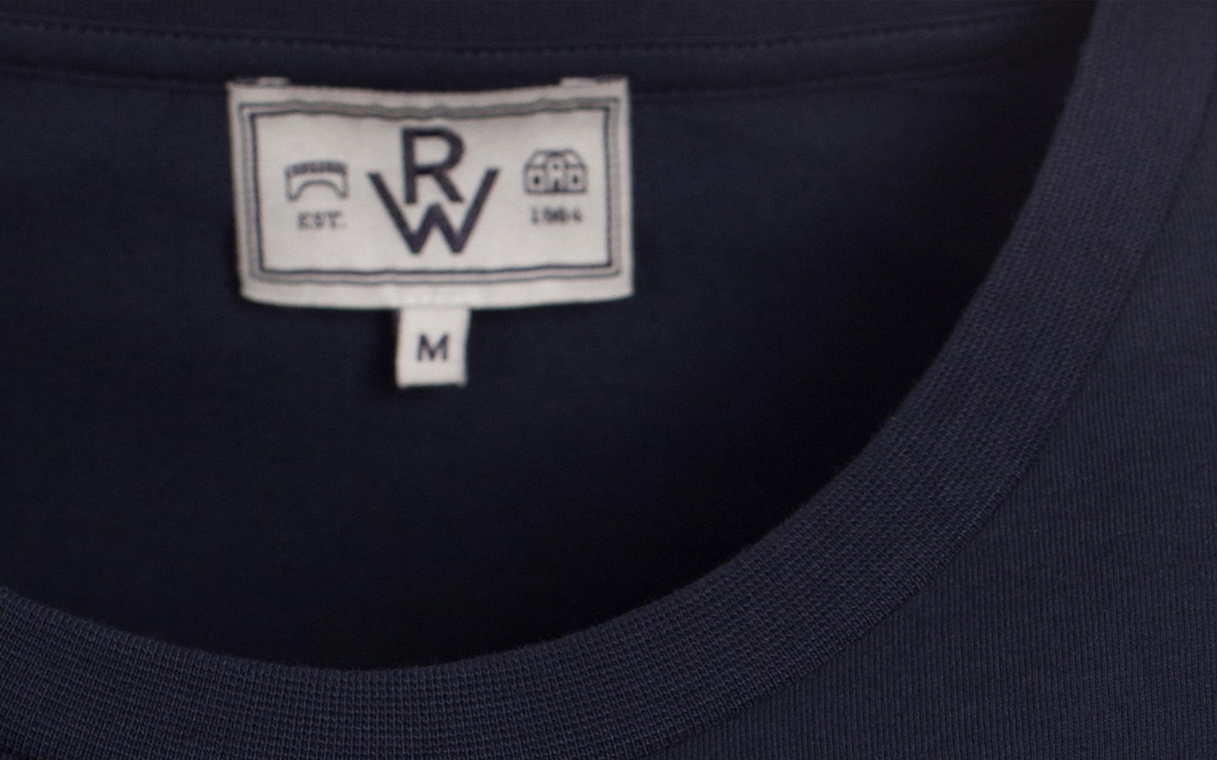 RW Est. 1984 neck label