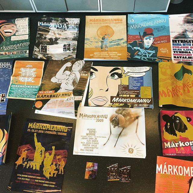 Et utvalg av Márkomeannus plakater gjennom 20 år. Hvilken er din favoritt?
