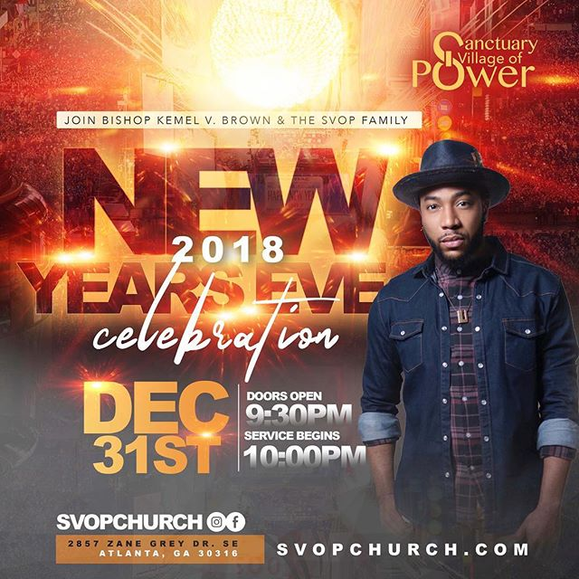 If you've brought in the New Year with us, you already know what to expect at this party! If you haven't, expect a night of fun, praise, dance, The Word and more. See you there! #NewYearsEve #SVOPstyle #IssaParty