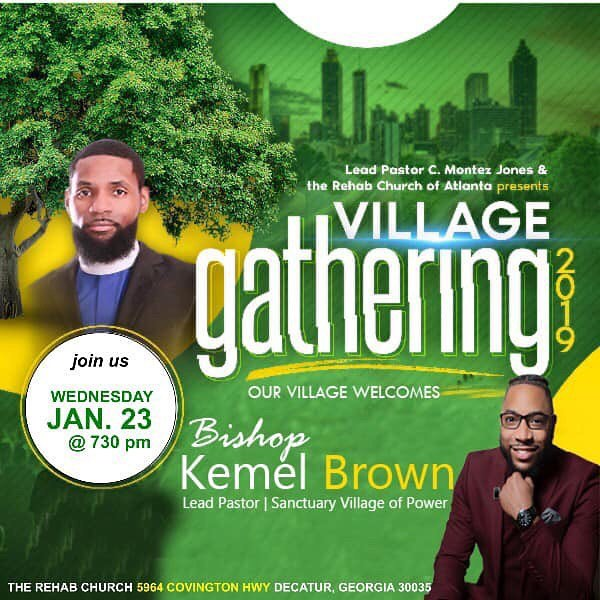 In lieu of Bible study, come fellowship with us as our Bishop brings the word tonight for the Village Gathering at the Rehab Church!