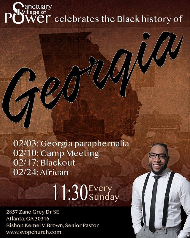 If you know SVOP, you know Black History month is a big deal! We can't wait to celebrate with you as we rock everything Georgia tomorrow. See you at 11:30.