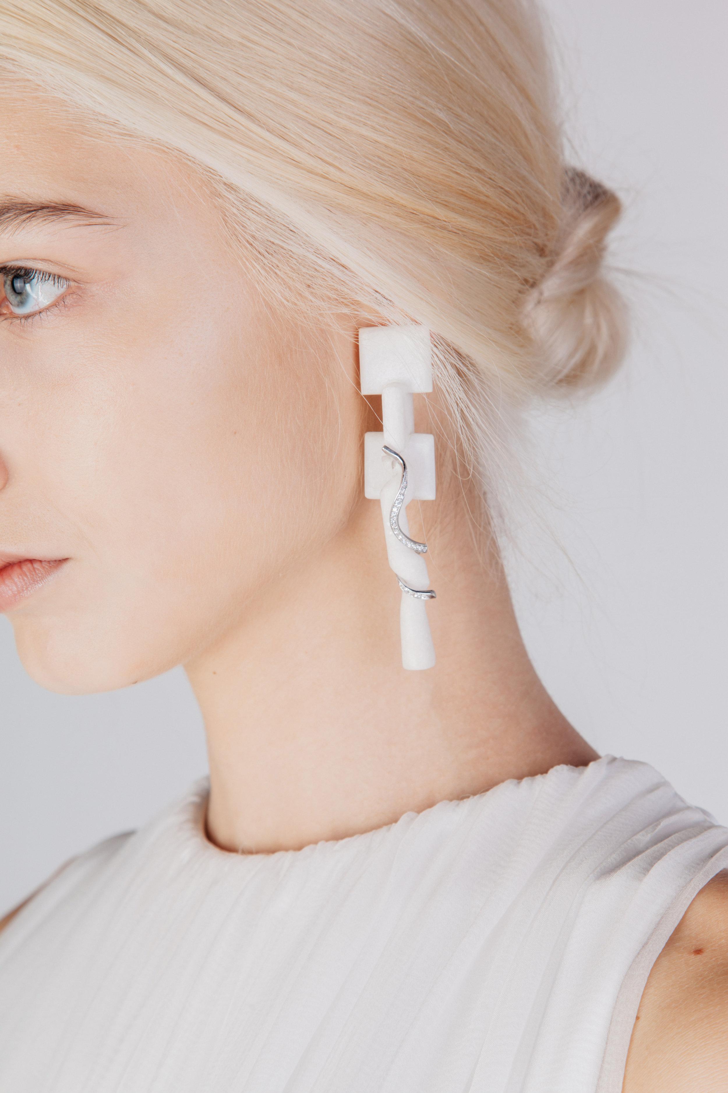 Phrix's Cross & Snake - Earrings