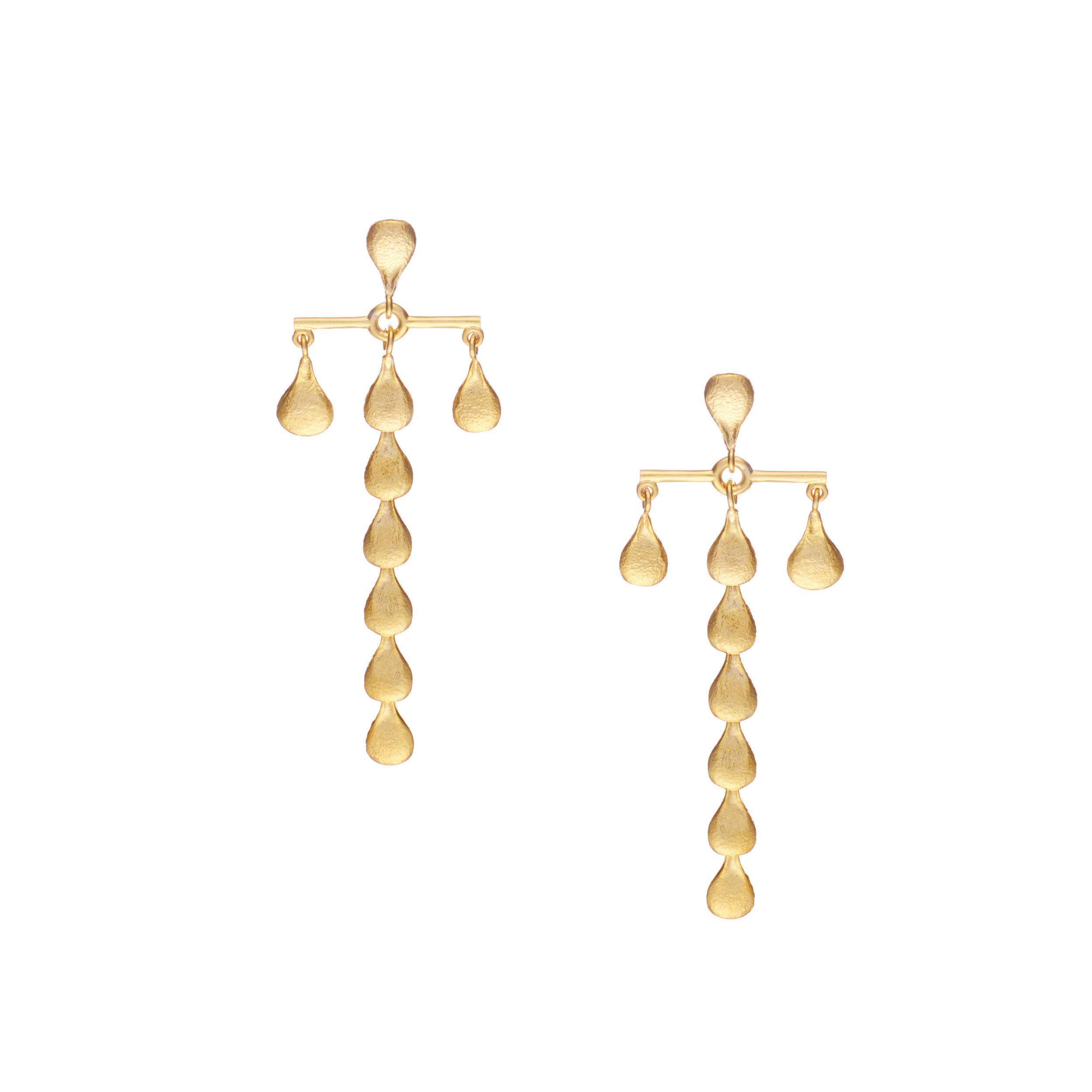 Linear B - Earrings