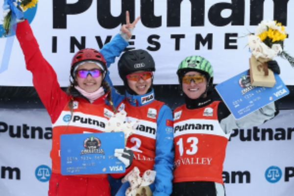 February 2016 -Sam 2nd place at Lake Placid World Cup Aerials make up event in Deer Valley.