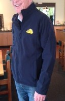 Navy Soft Shell Jacket left arm
