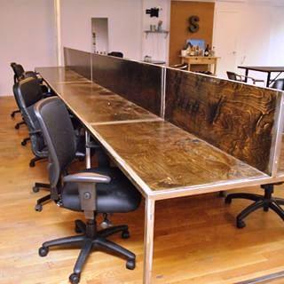 Internet Cafe Steel Table