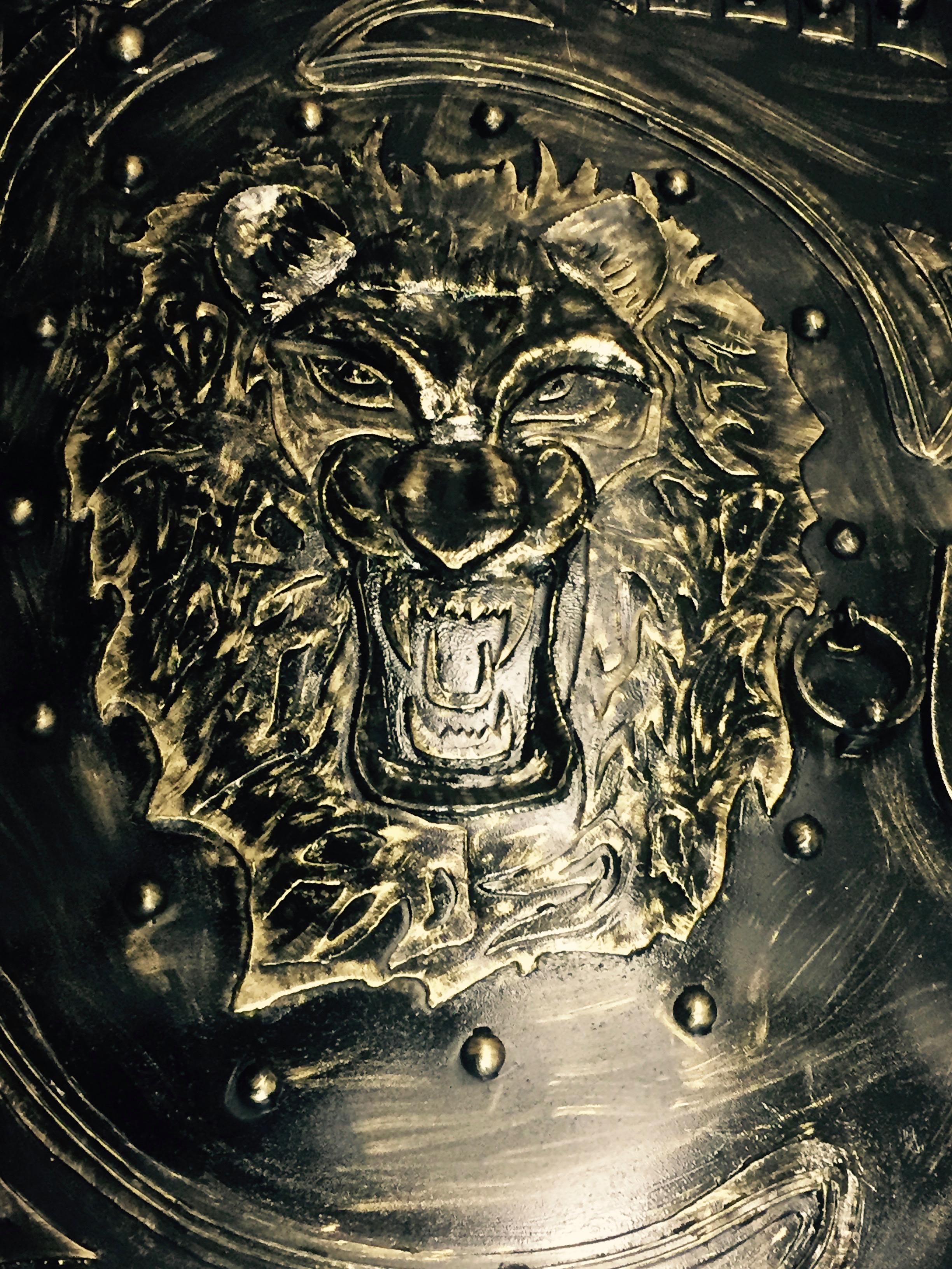 """artistic door, """"Lions"""""""
