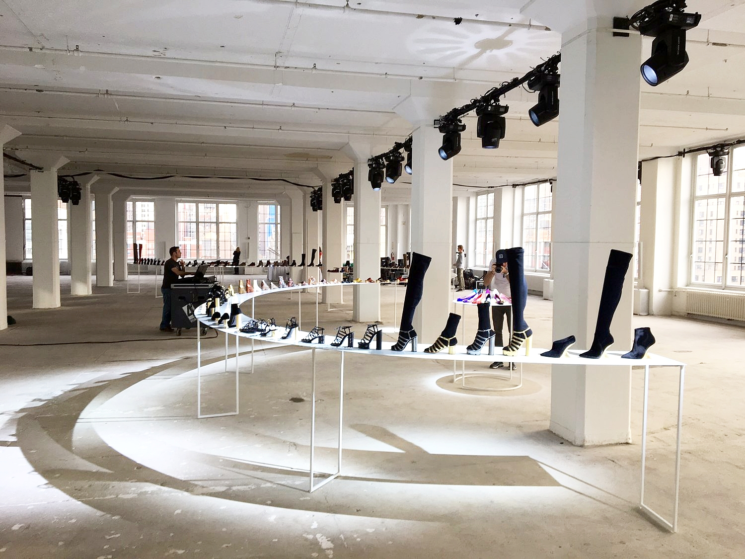 104 ft table, 2017 NYC Fashion Week