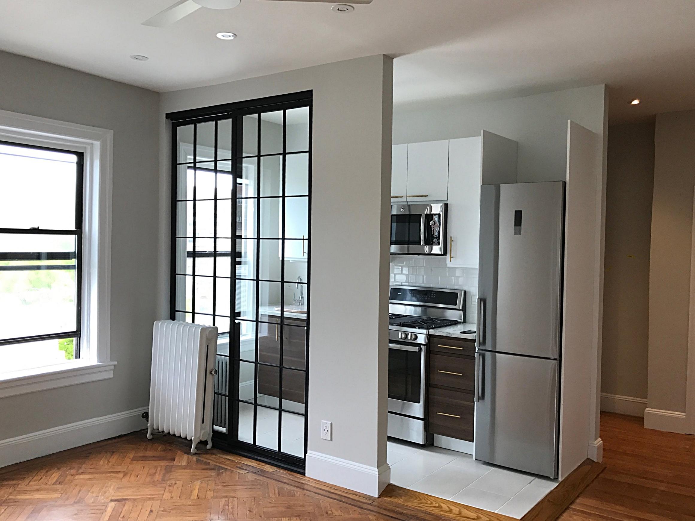 Steel &Glass Loft Wall with Door