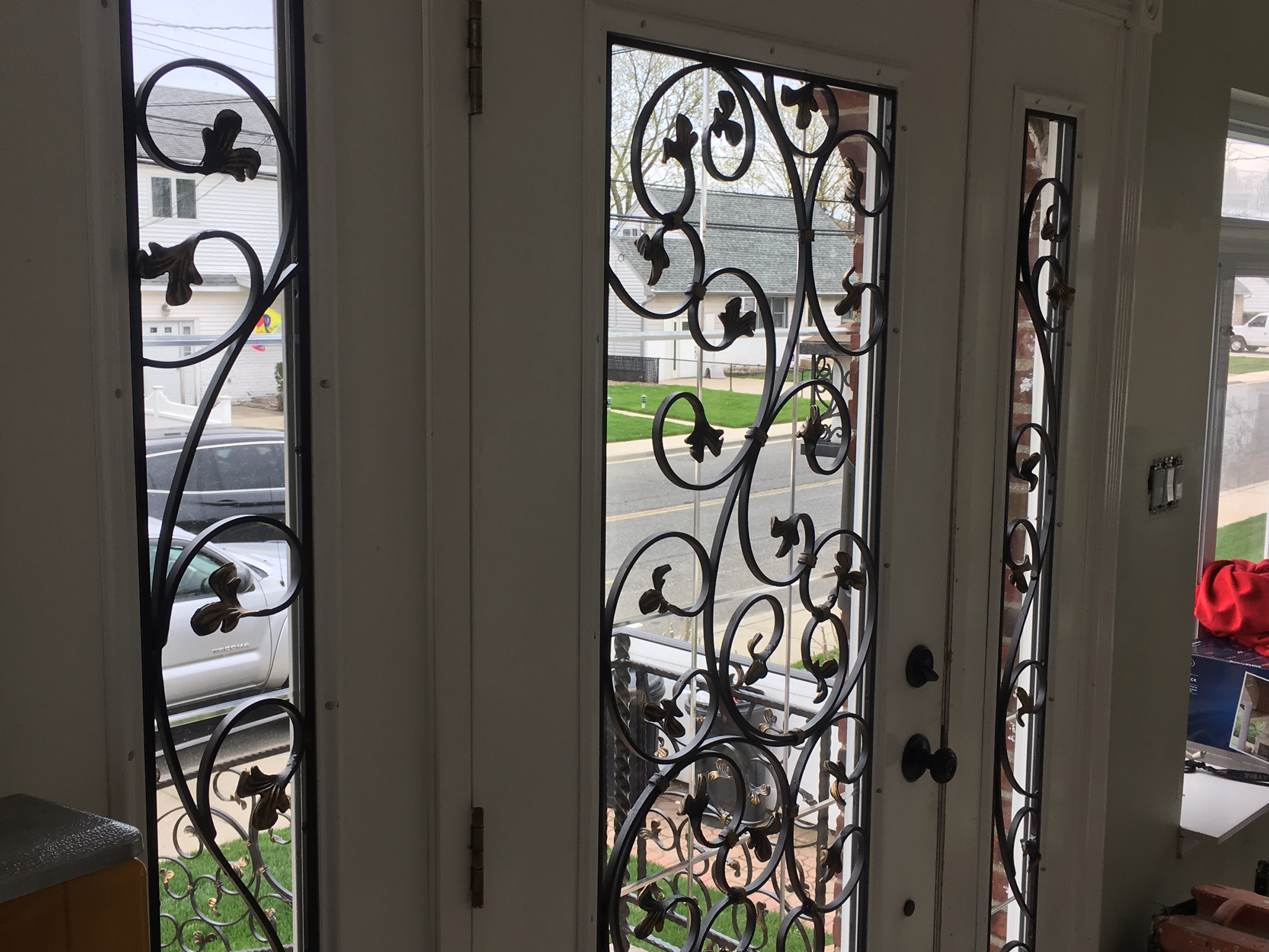 Wrought Iron Front Porch Door Screens